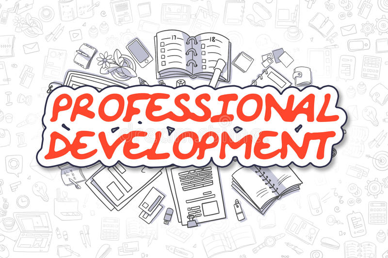 professional development business concept doodle illustration surrounded stationery web banners printed materials 86680976 | GRDELIN BUZET