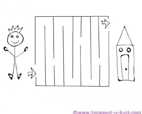 Jednostavni labirint djecak kuca | GRDELIN BUZET