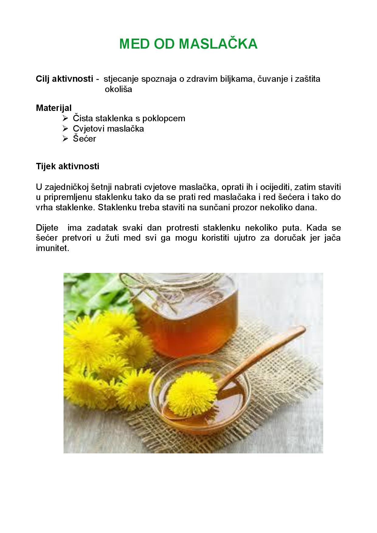 Med od maslačka 1   GRDELIN BUZET